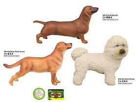 Животные пластмас.Q9899-450 (144шт/2)винил, домашние,собачки, 3 вида,в пакете 21*6*13,5см