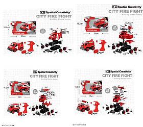Конструктор с инструм LM8031/32/33/34-YZ-1 (24шт) 21-33дет, 4 вида, Пожарная, в кор 33*13,5*19,2
