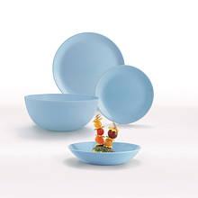 Сервиз столовый Luminarc Diwali Light Blue 19 предметов стеклокерамика (2961P)