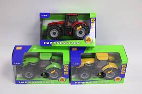 Трактор батар. MK1015S (60шт) свет, звук, откр. окно,3 вида, в кор. 19*8.1*11.3см