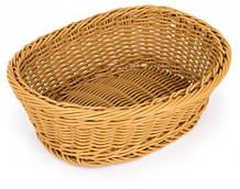 Корзина Empire для хлеба 24х18 см h7 см пластик, Корзина для подачи и хранения хлеба, Хлебница овальная
