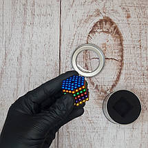 Конструктор XPRO Куб NEO 216 магнитов разные цвета-радуга (фото вживую), фото 3