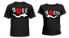 "Парные футболки ""Я люблю его - Я люблю её"""