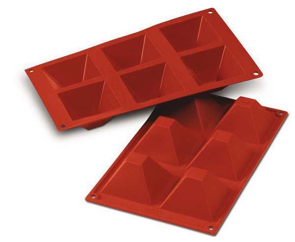 """Форма для выпечки Silikomart  """"пирамида"""" 6 штук 90мл 7,1х7,1 см h4 см силикон (SF007/C)"""