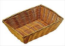 Корзина FoREST прямоугольная светло-коричневая 23х15смh7см, Корзина для хранения хлеба, Хлебница прямоугольная
