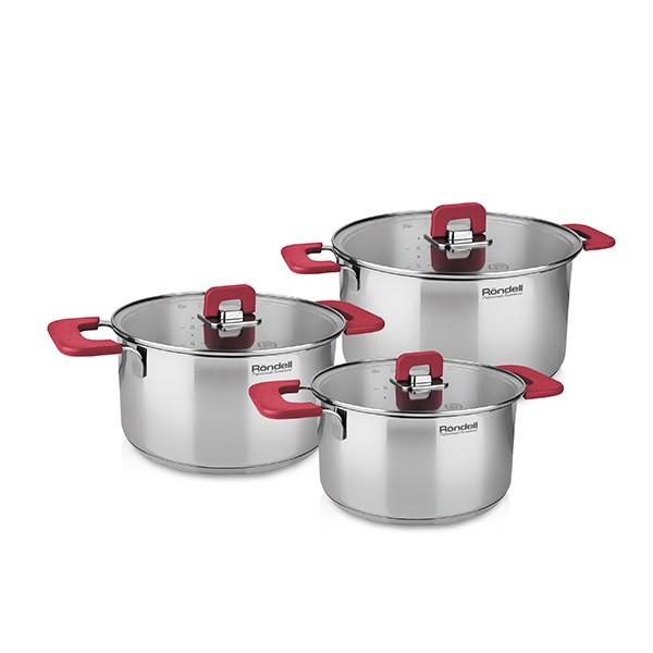 Набор посуды Rondel Savvy 6 предметов нержавейка (RDS-940)