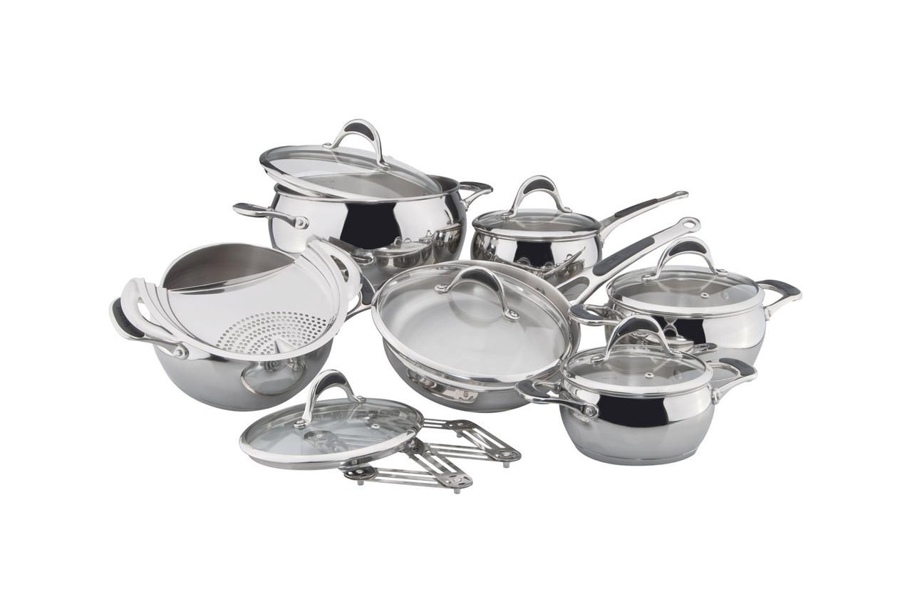 Набір посуду Vinzer Stella 14 предметів нержавійка (89020 Vinzer)
