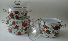 Набір посуду Epos Макове поле 6 предметів емаль (№1600 Макове поле)
