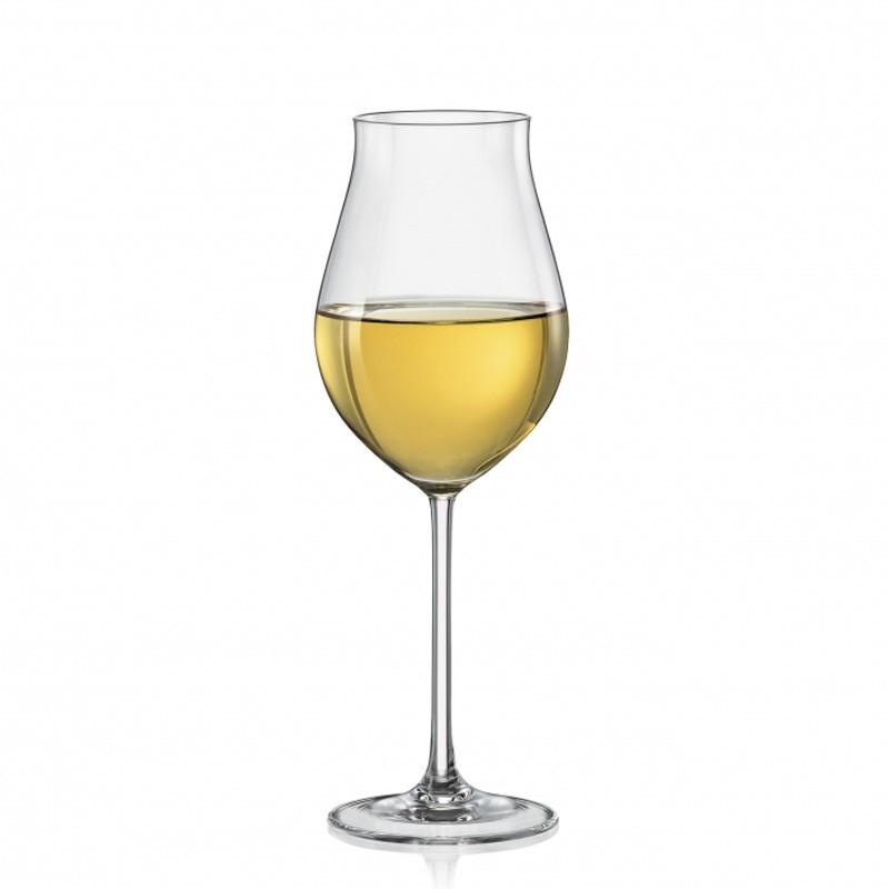 Набор бокалов для вина Bohemia Attimo 6 штук 340мл богемское стекло (40807/340)