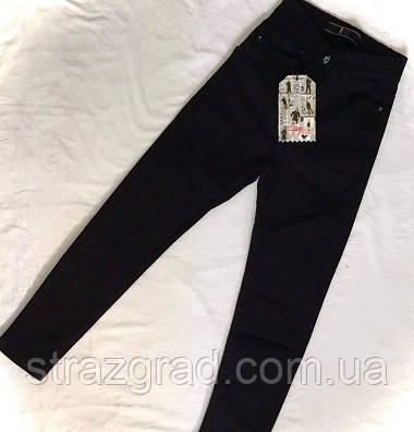 Стильные джинсовые брюки детские и подростковые Цвет Черный Рост 134-164см