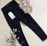 Стильные джинсовые брюки детские и подростковые Цвет Черный Рост 134-164см, фото 2