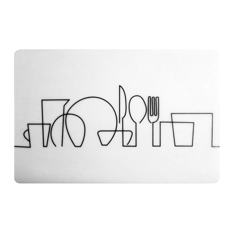 Коврик сервировочный Maestro 43х28,5 см пластик, Салфетка-подставка под приборы, Белая салфетка для стола