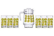 Набір для води Luminarc Amsterdam Meline (глечик 1,6 л+ стакани 270мл-6шт) 7 предметів скло (0826N)