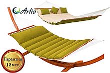 Гамак тканинний Arlio TURIN. Двомісний з планкою 3.4 м х 1.4 м