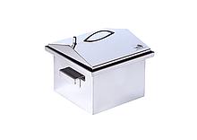"""Коптильня горячего копчения крышка """"Домик"""" из нержавеющей стали до 2,5 кг продуктов 300 х 300 х 250"""