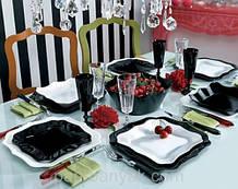 Сервиз столовый Luminarc Authentic Black&White 19 предметов стеклокерамика (6195E)