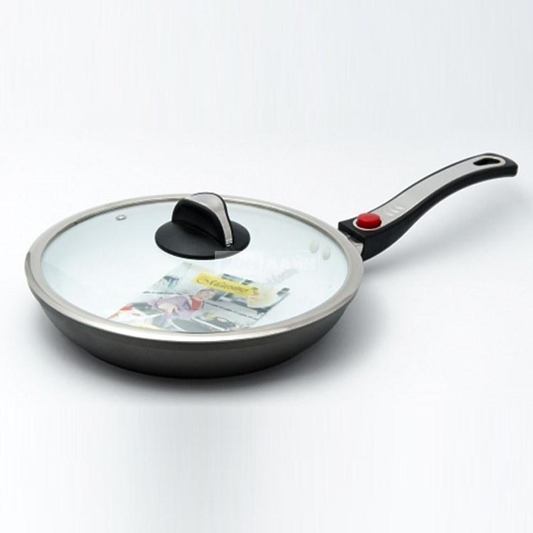 Сковорода з кришкою Maestro d24 см алюміній з антипригарним покриттям (1204-24 MR)