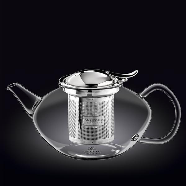Чайник заварочный Wilmax Thermo с ситечком 1,55л стекло (888806 WL)