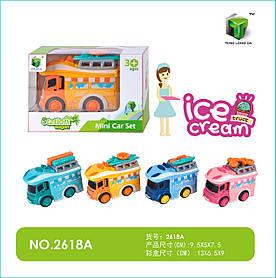 Машина металл 2618A (144шт) Ice Cream, в кор 13*6,5*9 см