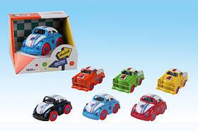 Машина металл 0783-73 (144шт) 6цветов, в откр.коробке