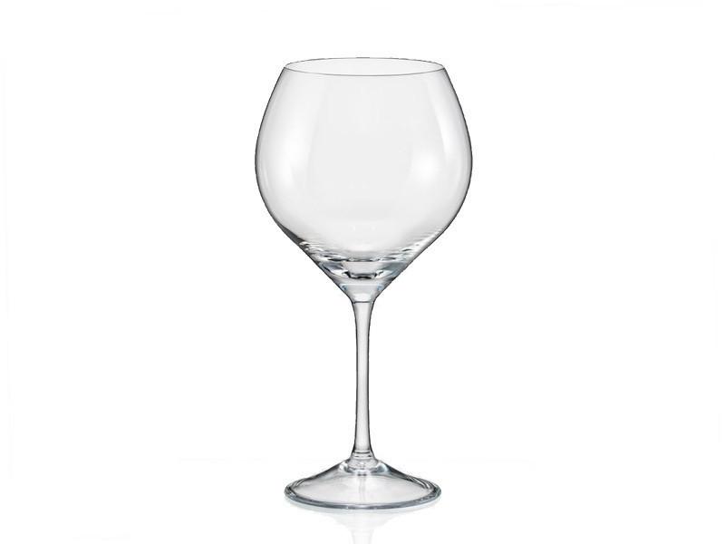 Набір келихів для вина Bohemia Sophia 6 штук 650мл богемське скло (40814/650)