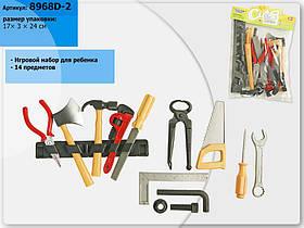Набор инструментов 8968D-2 (192шт/2) 14 предметов, ключи, отвертки, молоток, топор, в пакете 17см