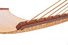Плетений Гамак золотого кольору Arlio Rome. Двомісний з планкою 3.2 м х 1.2 м