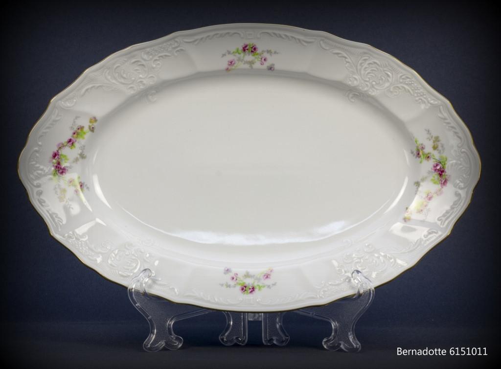 Блюдо овальное с бортом Thun Bernadotte 6151011  длина 24 см фарфор (6151011)