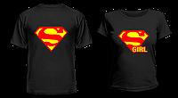 """Парные футболки """"Супермен и Супергёл"""", фото 1"""