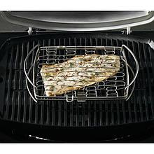 Сітка підставка для риби і овочів з нержавіючої сталі 45 х 27 х 6 см Weber (6471)