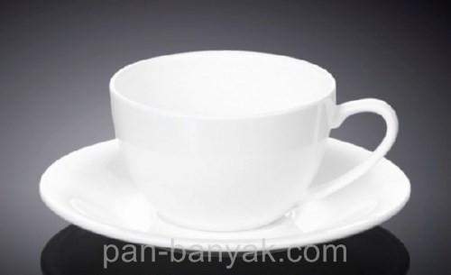 Чашка чайная с блюдцем Wilmax  180мл фарфор (993001 WL)