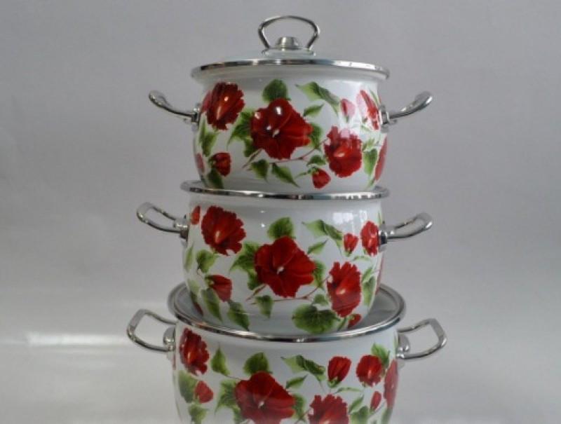 Набір посуду Epos Каркаде 6 предметів емаль (№1600 Каркаде)