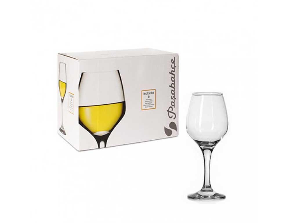 Набір келихів для вина Pasabahce Isabella 6 штук 350мл d5,9 см h28,7 см скло (440271)