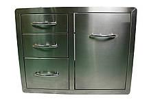 Вбудована тумба з дверцятами для гриль зони або в кухонному приміщенні з нержавіючої сталі GRILLI 777705