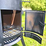 """Пічка під казан 3 мм в комплекті з підставкою і кочергою зі сталі """"Троян"""", фото 2"""