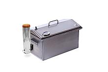 Коптильня з термометром і димогенератором для гарячого копчення 520 х 300 х 310 із сталі