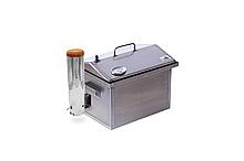 Коптильня гарячого і холодного копчення з димогенератором і термометром 400 х 300 х 310 з сталі до 3 кг м'яса
