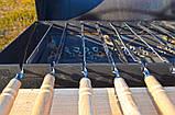 Мангал гриль с шампурами и кочергой для углей для барбекю в черном цвете Троян Манг-004, фото 3