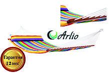 Гамак тканинний веселкового кольору Arlio AMSTERDAM. Двомісний з планкою 3.2 м х 1.2 м