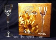 Набір рюмок Bohemia Fleur 6 штук 60мл d5,4 см h18 см богемське скло (40448/60)