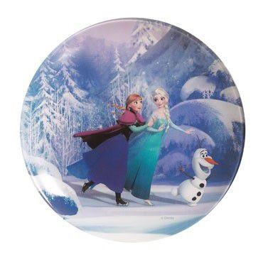 Тарелка десертная Luminarc Disney Frozen круглая без борта d20 см ударопрочное стекло (0867L)