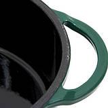 Казан котел из чугуна круглой формы для гриля 4 л зеленого цвета Big Green Egg 117045, фото 4
