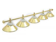 Світильник більярдний Classic Gold 5 плафонів