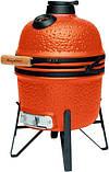 Керамический гриль печь для барбекю с решеткой из стали 27 см оранжевого цвета BergHOFF Studio (2415705), фото 2