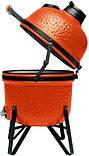 Керамический гриль печь для барбекю с решеткой из стали 27 см оранжевого цвета BergHOFF Studio (2415705), фото 4