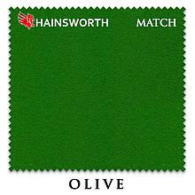 Сукно Hainsworth Match Snooker Olive для бильярдных столов
