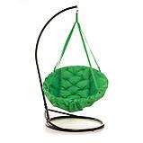 Подвесное кресло гамак для дома и сада 96 х 120 см до 200 кг зеленого цвета, фото 2