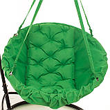 Подвесное кресло гамак для дома и сада 96 х 120 см до 200 кг зеленого цвета, фото 3