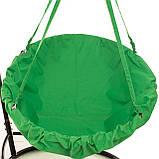 Подвесное кресло гамак для дома и сада 96 х 120 см до 200 кг зеленого цвета, фото 5