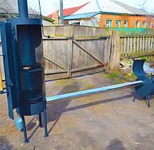 Коптильня холодного копчения с дымоходом для дома и дачи черного цвета Троян Копт-002